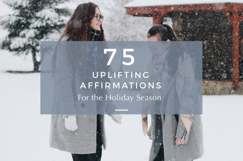 holiday positive affirmations