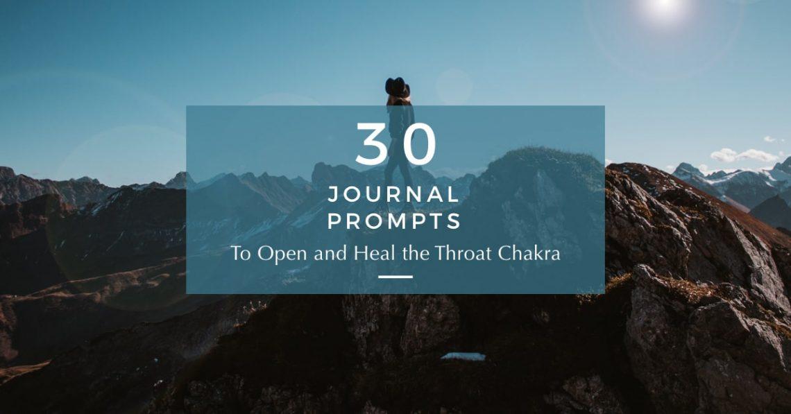 throat chakra journal prompts