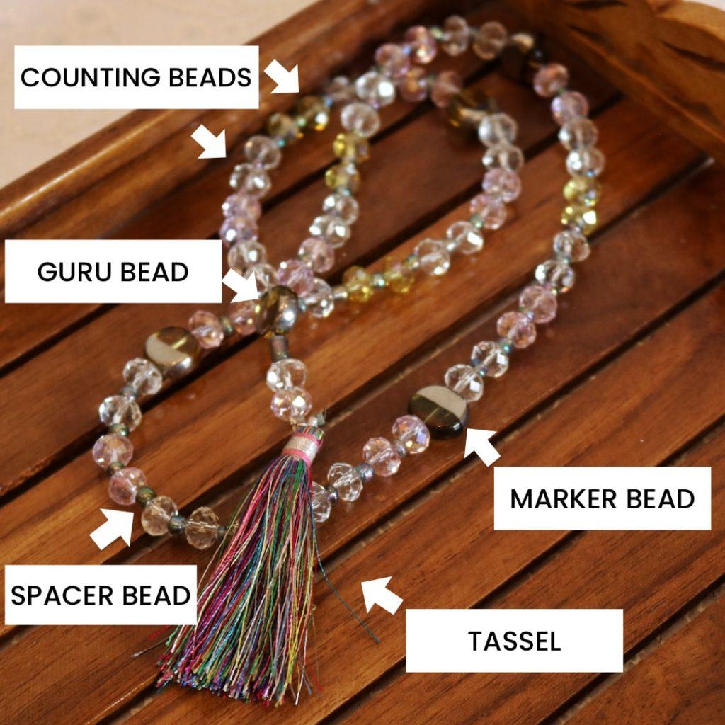 mala beads components
