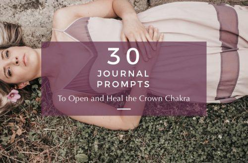 crown chakra journal prompts