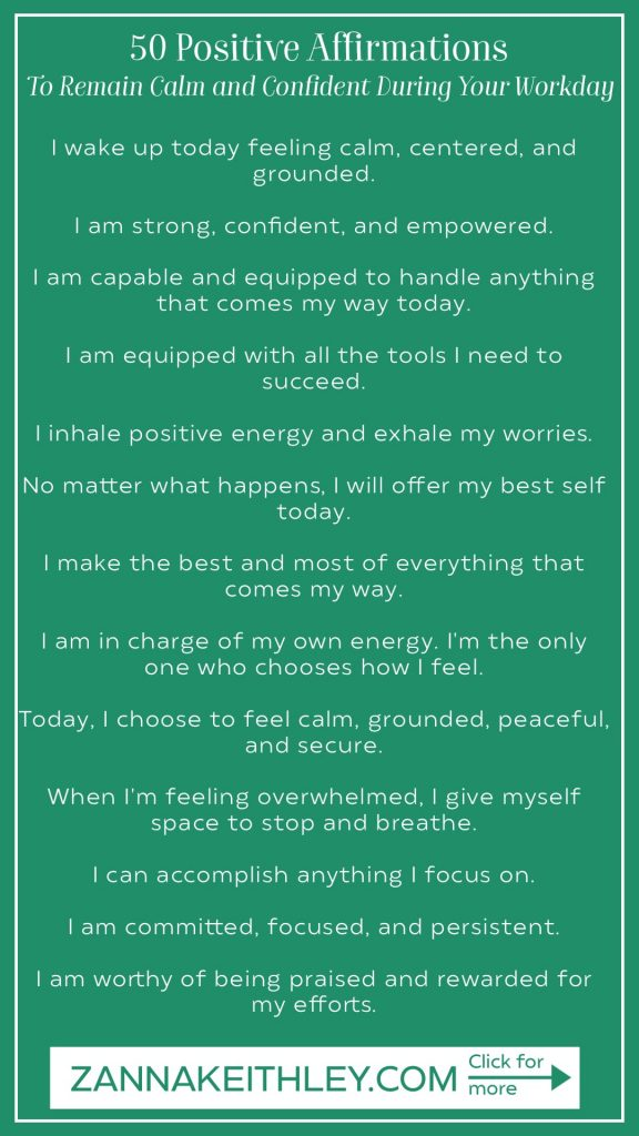 positive affirmations for work