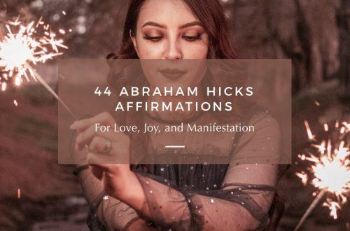 abraham hicks affirmations