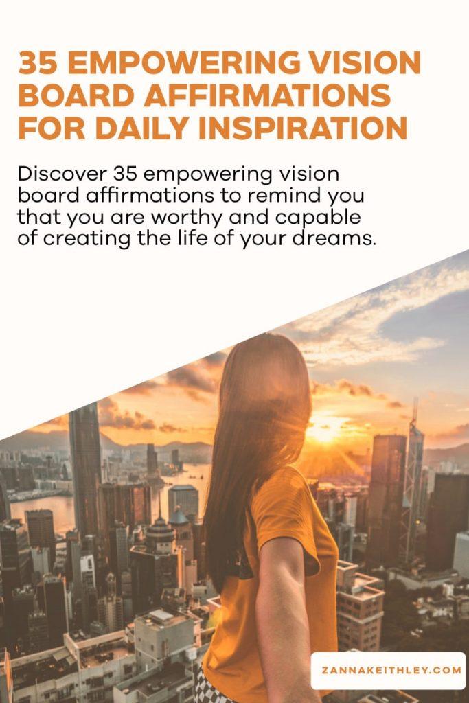 vision board affirmations