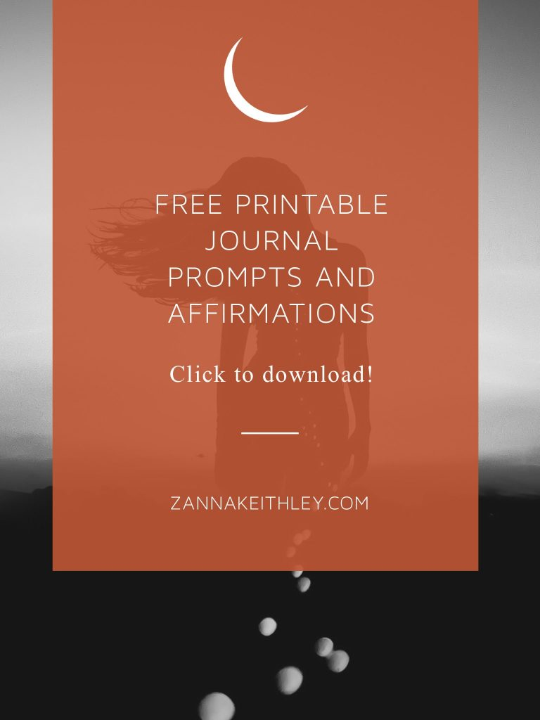 free printable new moon journal prompts and affirmations