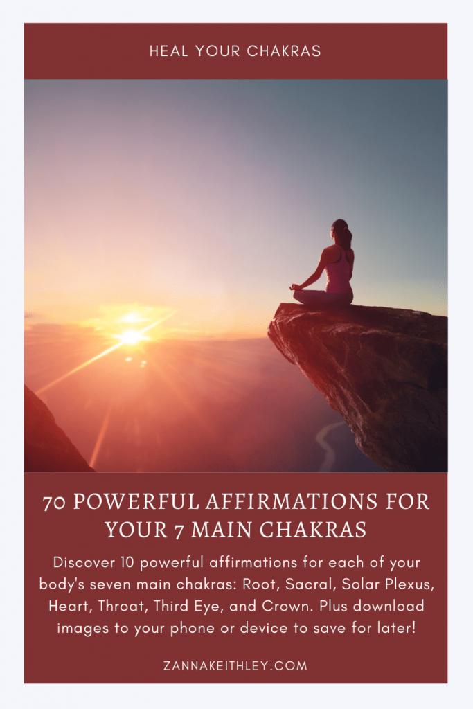 chakra affirmations blog post