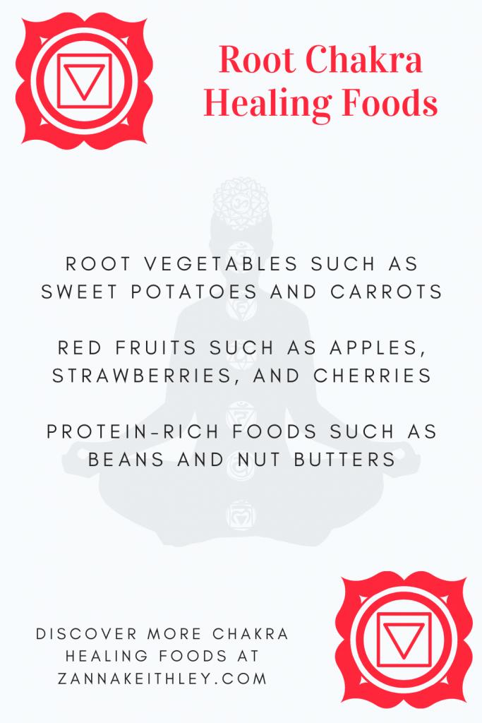 healing root chakra foods