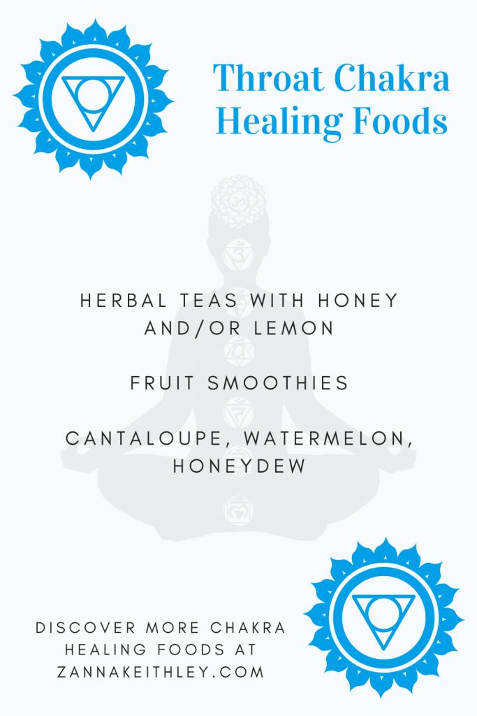healing throat chakra foods