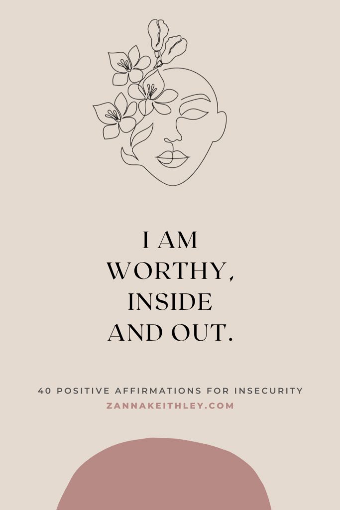 affirmations for insecurity